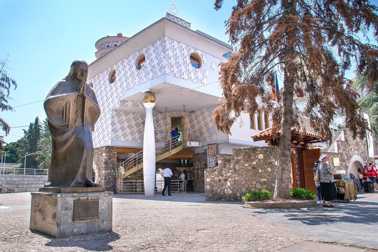Memorial House of Mother Teresa in Skopje, Macedonia