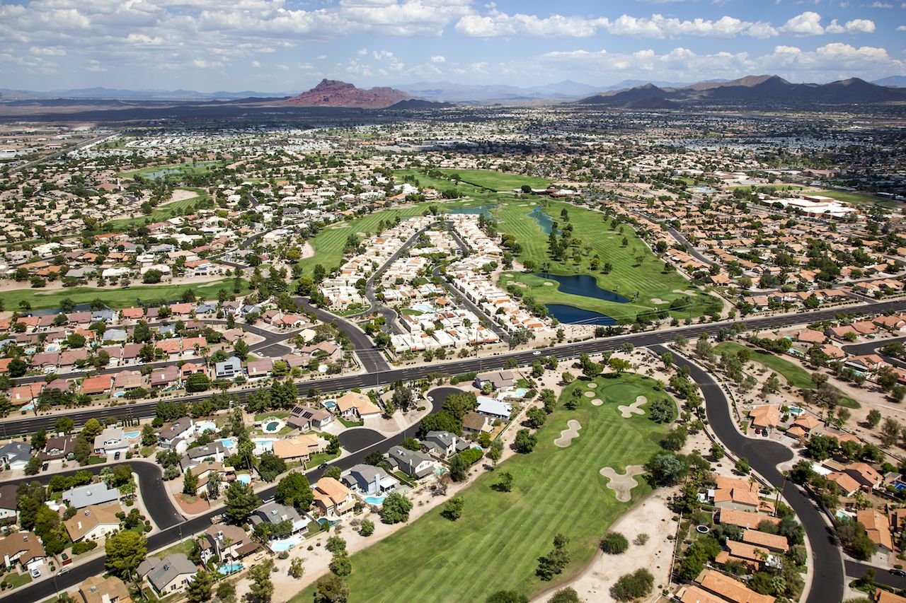 Mesa, Arizona, city and landscape
