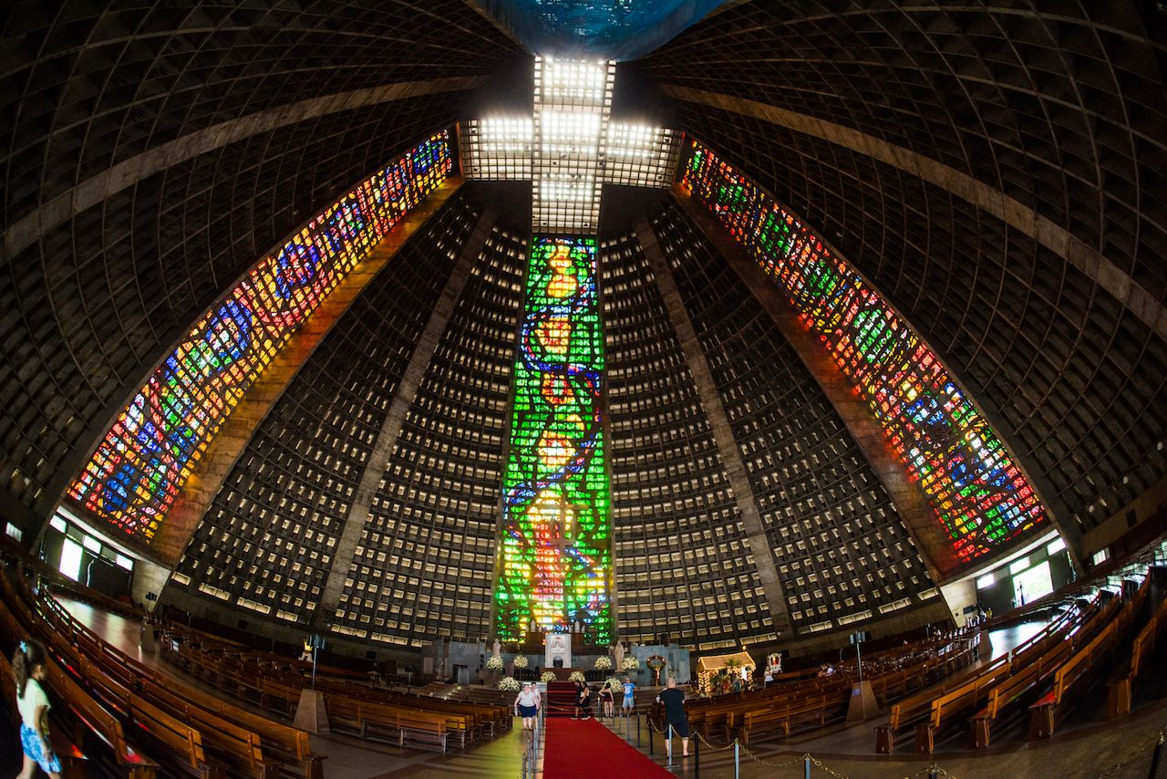 Metropolitan cathedral of Saint Sebastian in Brazil
