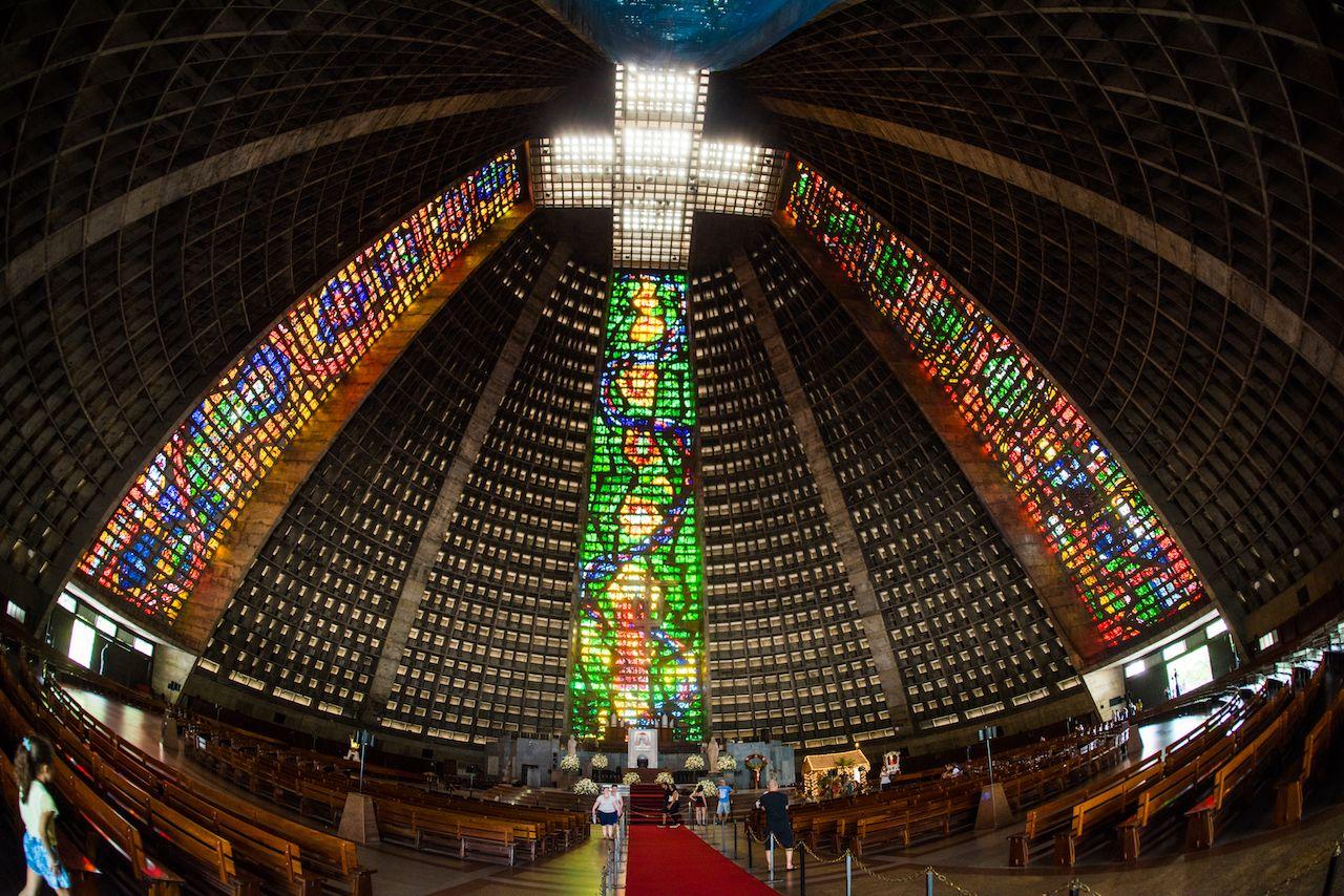Metropolitan cathedral of Saint Sebastian in Brazil