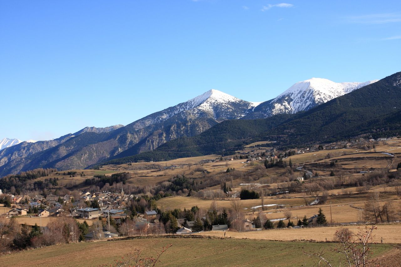 Mountain in Cerdanya, Eastern Pyrenees in south of France