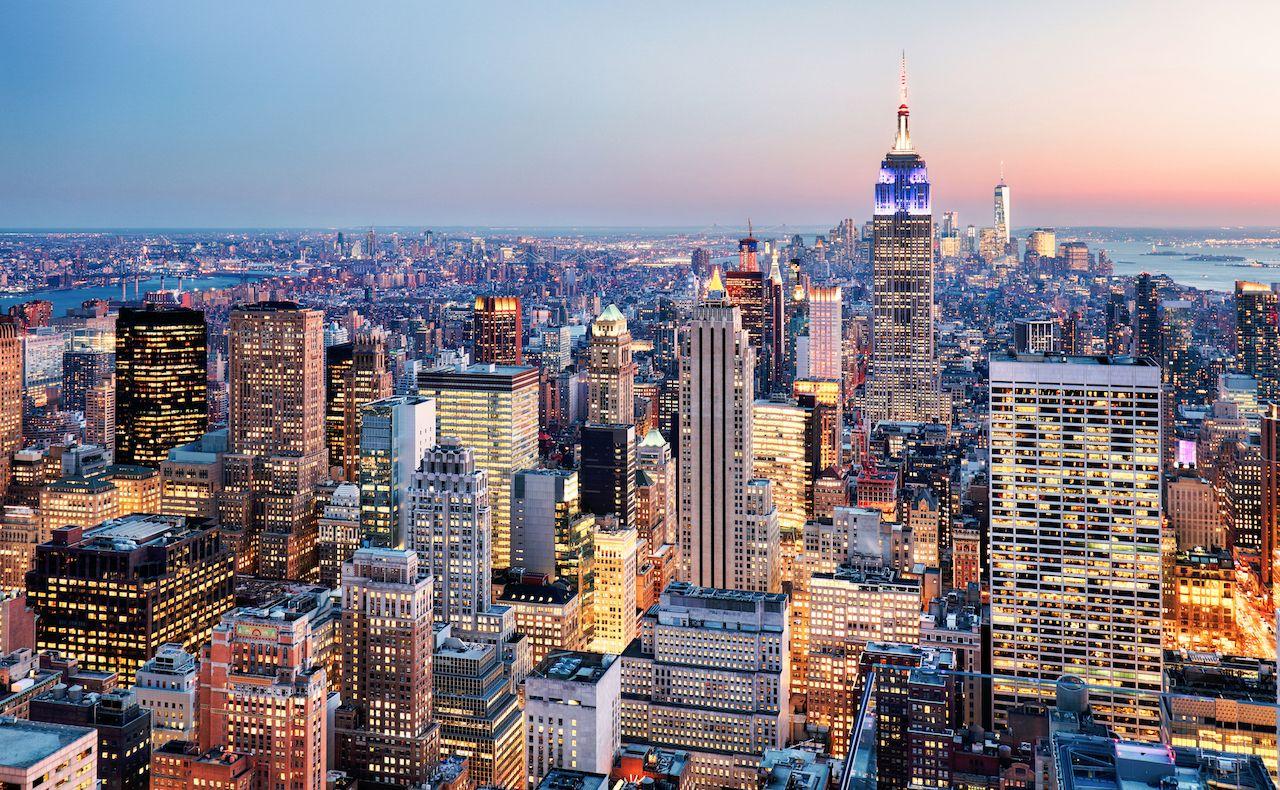 New York City skyscraper view