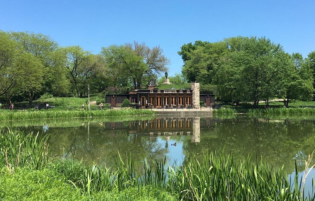 North Pond restaurant in Chicago in a pond