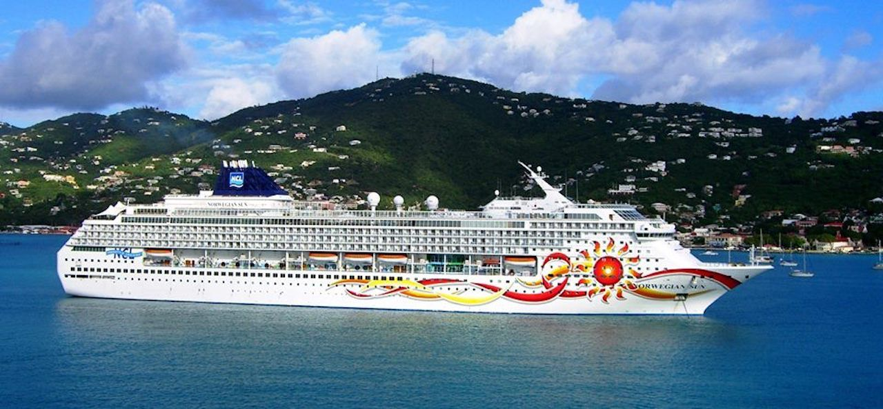 Norwegian Cruise Line vessel at sea