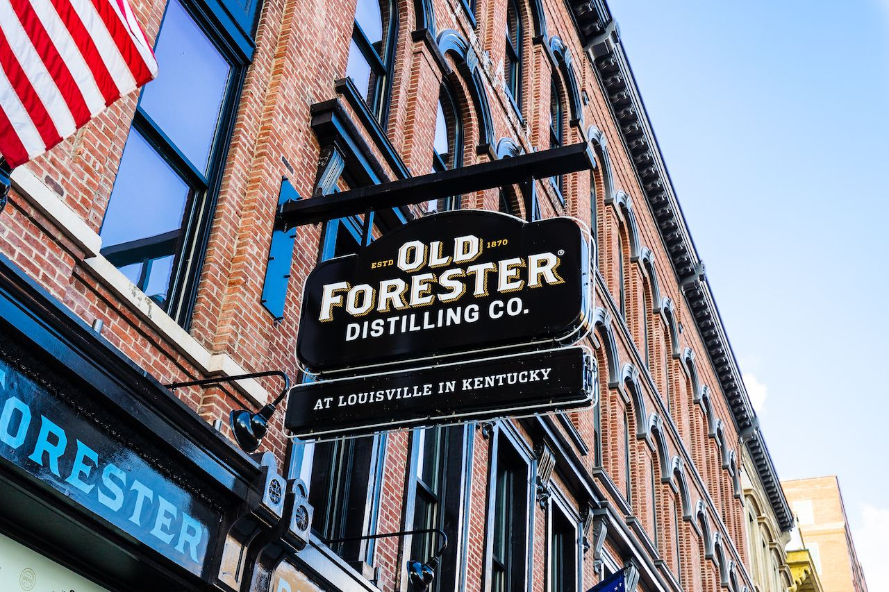 Old Forester Distilling Co. owned by the Kentucky Straight Bourbon Whiskey