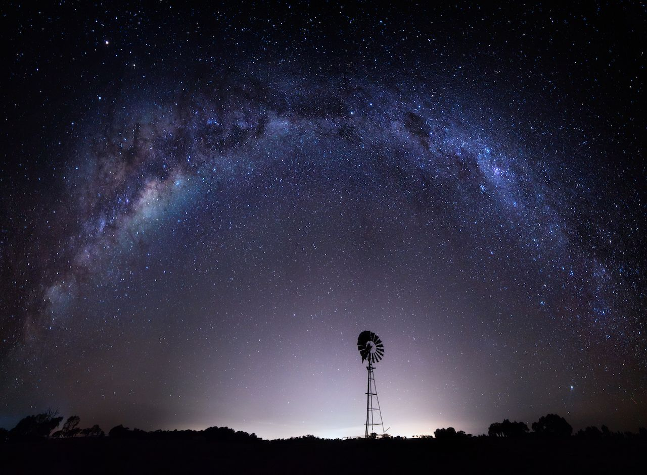 Outback Australia under the night sky