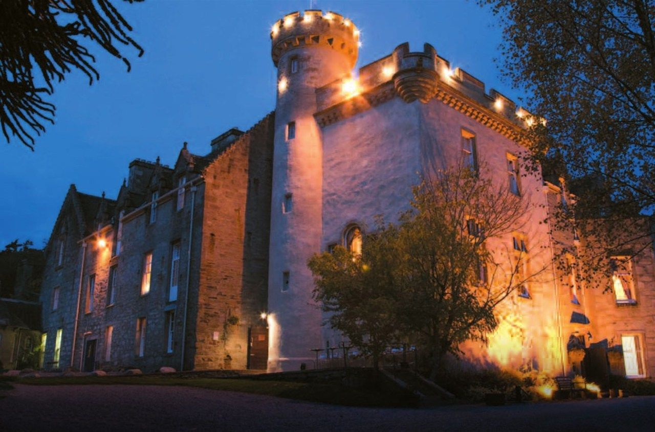 Outside the haunted Tulloch Castle