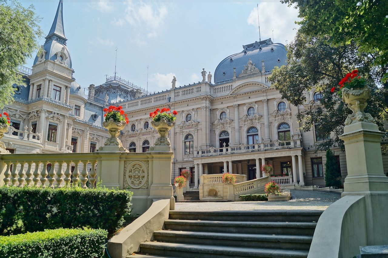Palace in neo-baroque style of textile entrepreneur, Israel Poznanski, in Lodz, Poland