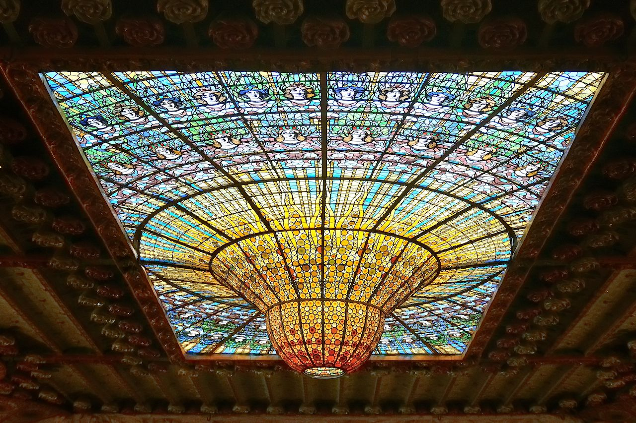 Palau de la Musica Catalana in Spain