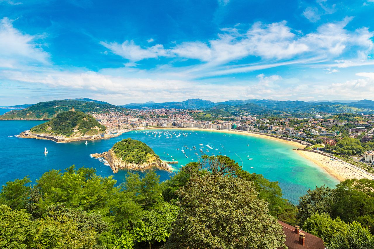 Panoramic aerial view of San Sebastián
