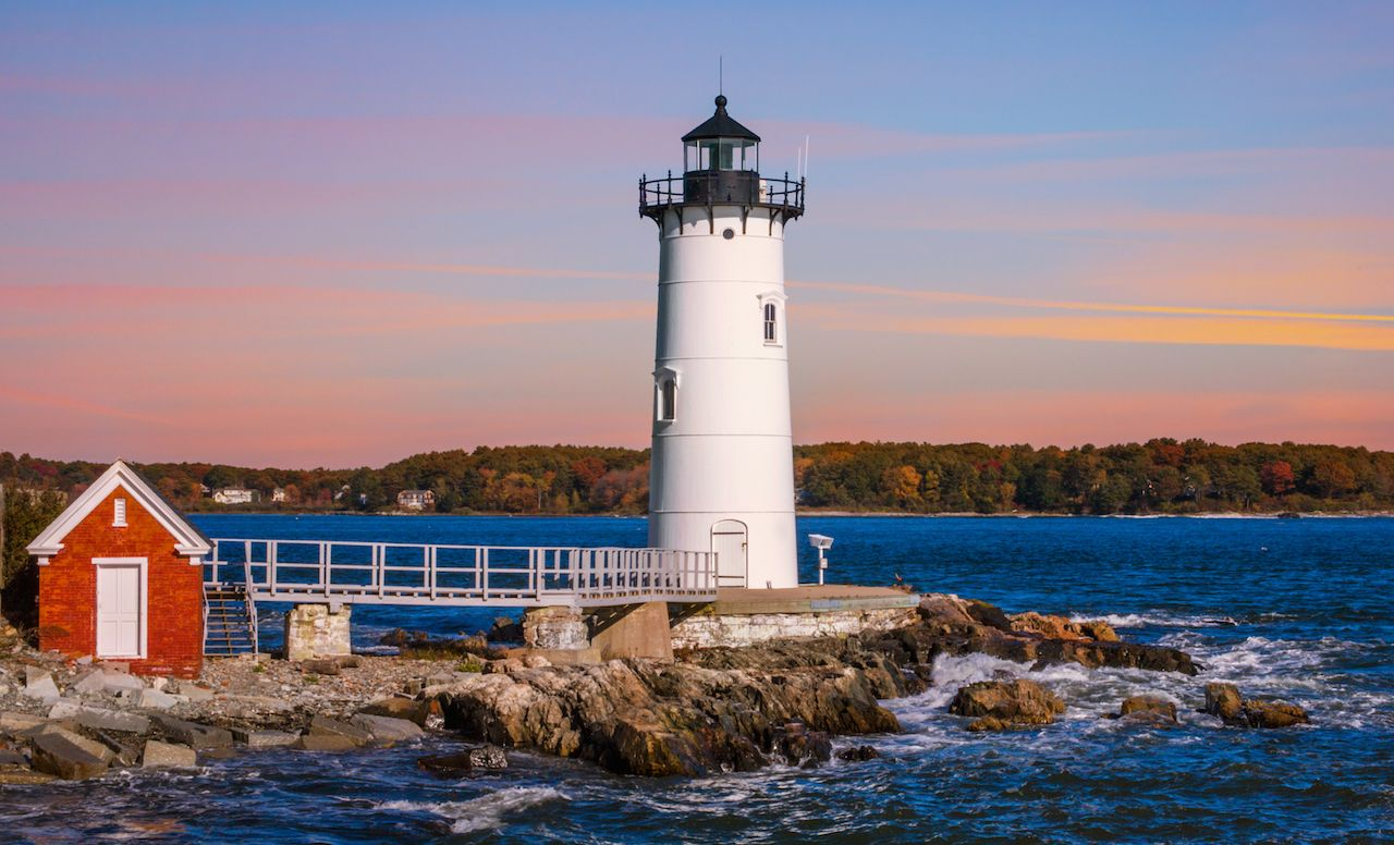 Portsmouth Harbor Lighthouse in New Castle in New Hampshire
