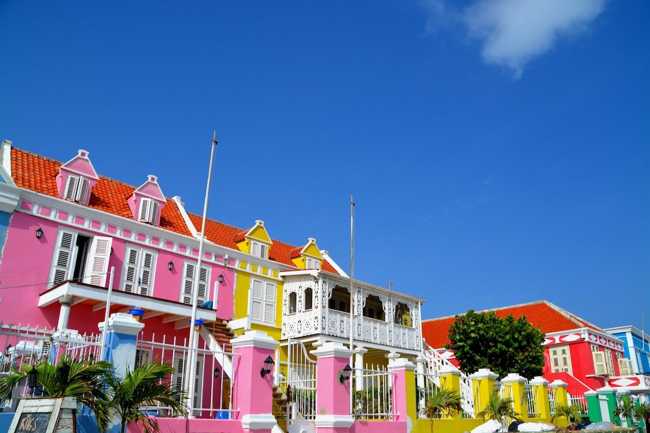 Punda district with its colorful dutch houses in Willemstad in Curacao