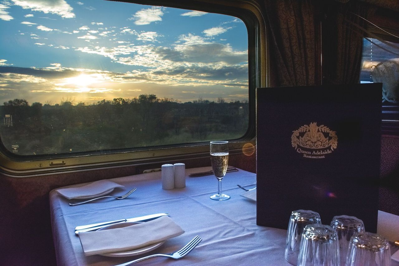 Queen Adelaide Restaurant on The Ghan in Australia