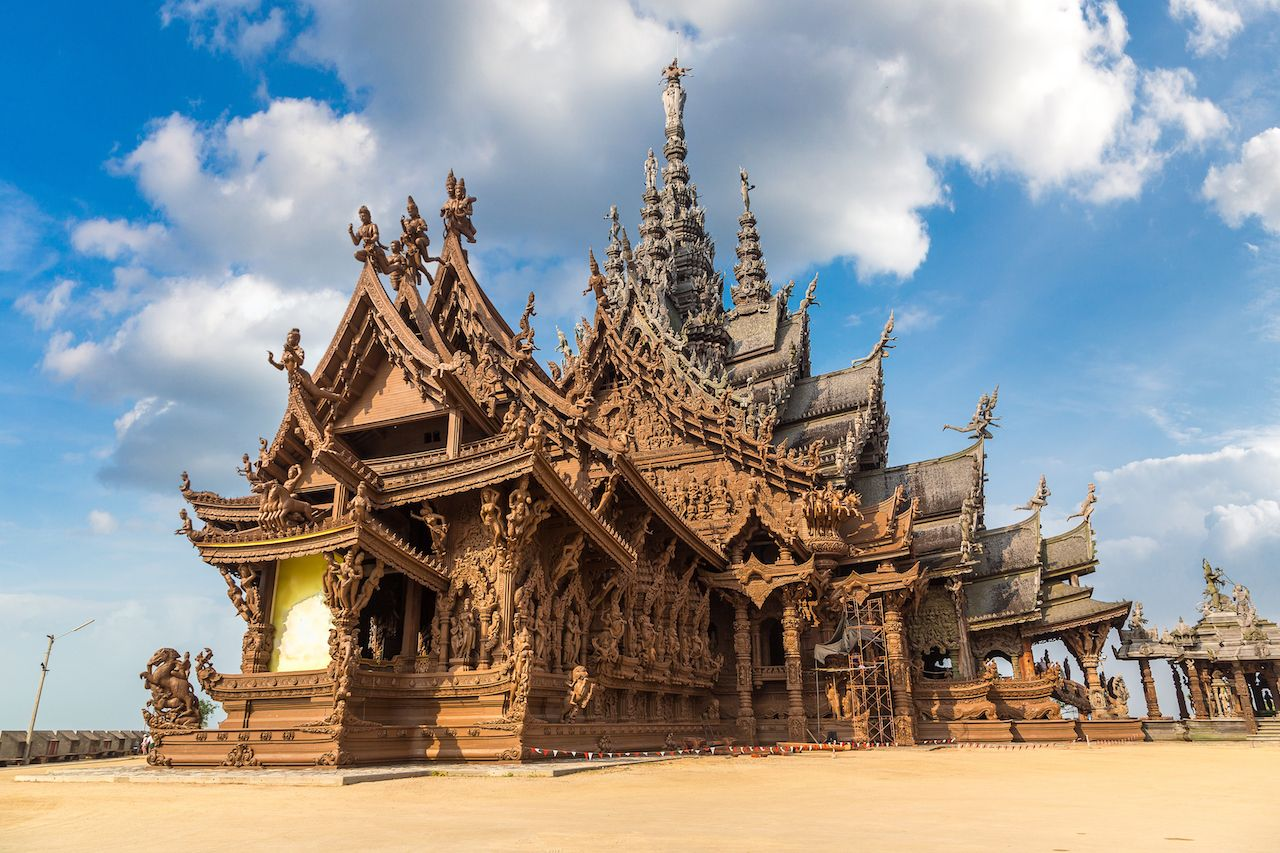 Sanctuary of Truth in Pattaya in Thailand