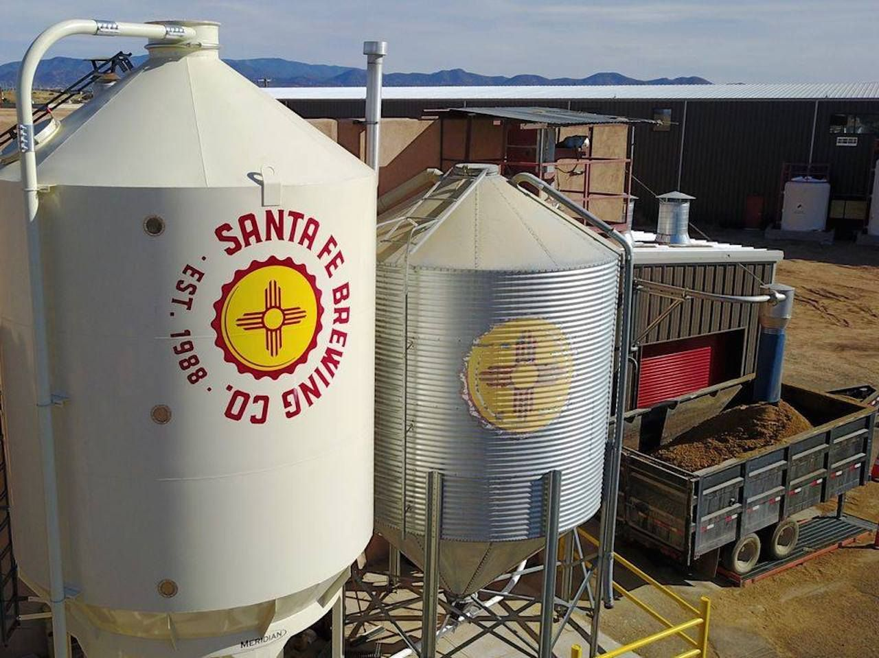 Santa Fe Brewing Company distilling tanks