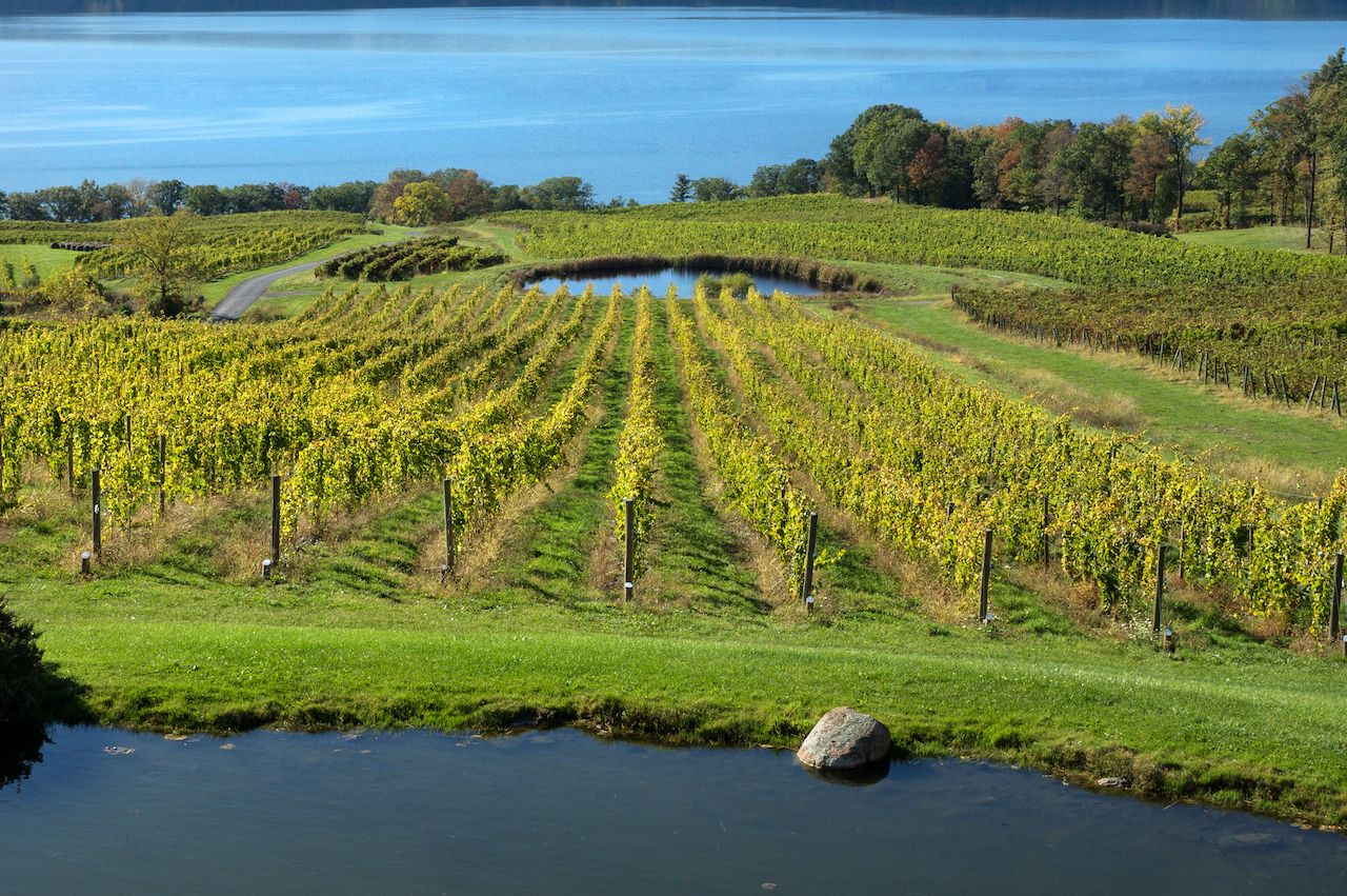 Seneca Lake Wine Trail in the Finger Lakes of New Yor
