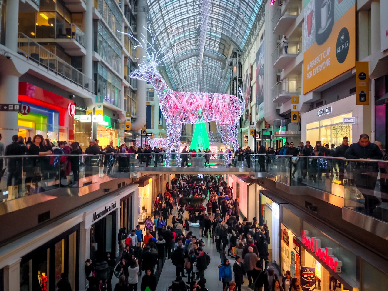 Shoppers visit the mall in Toronto, Canada on the Black Friday