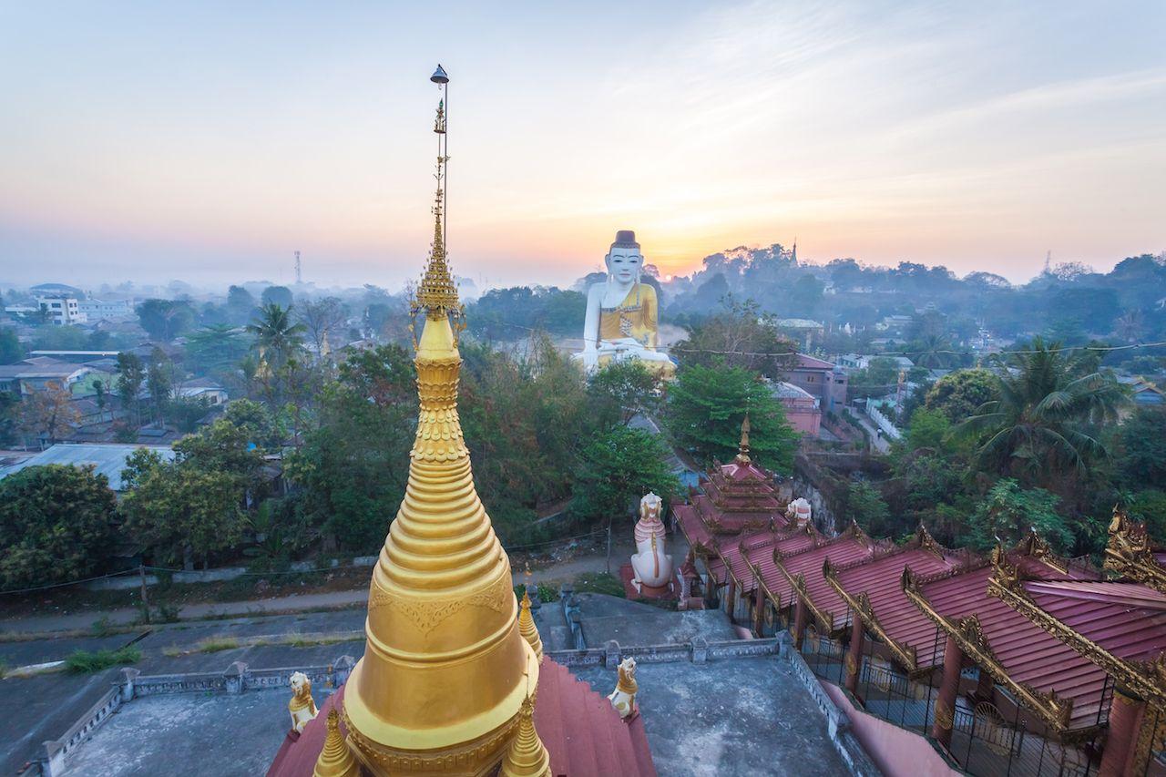 Shwesandaw Paya temple, Pyay, Myanmar