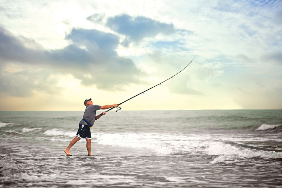 Surfcasting South Padre Island Texas