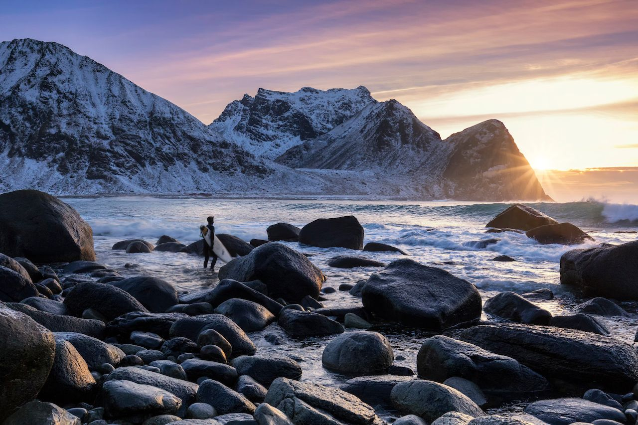 Best places for cold-water surfing