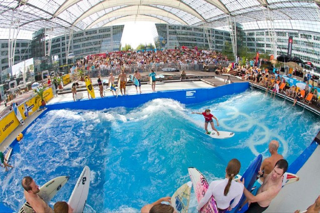 Surfing in Munich Airport in Germany