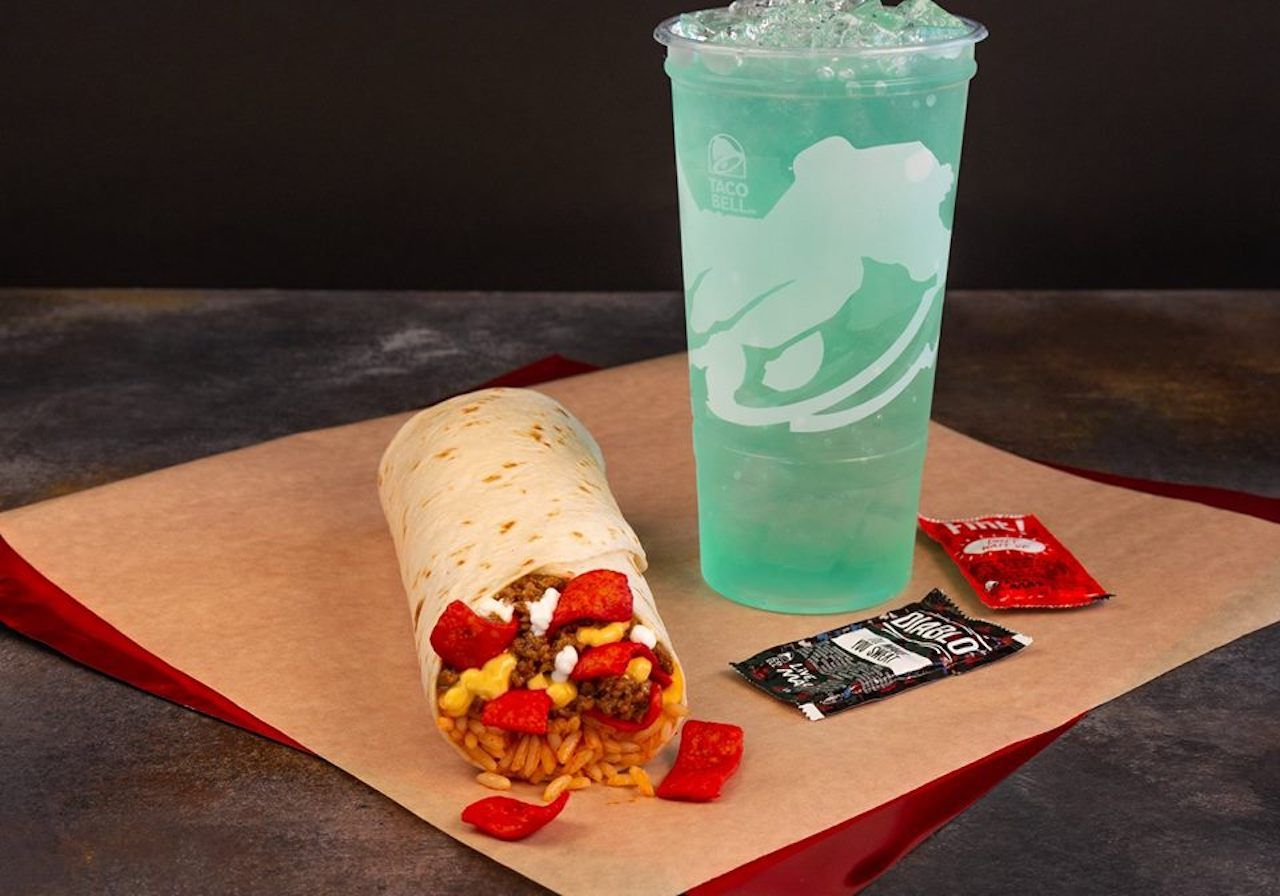 Beefy crunch burrito from Taco Bell