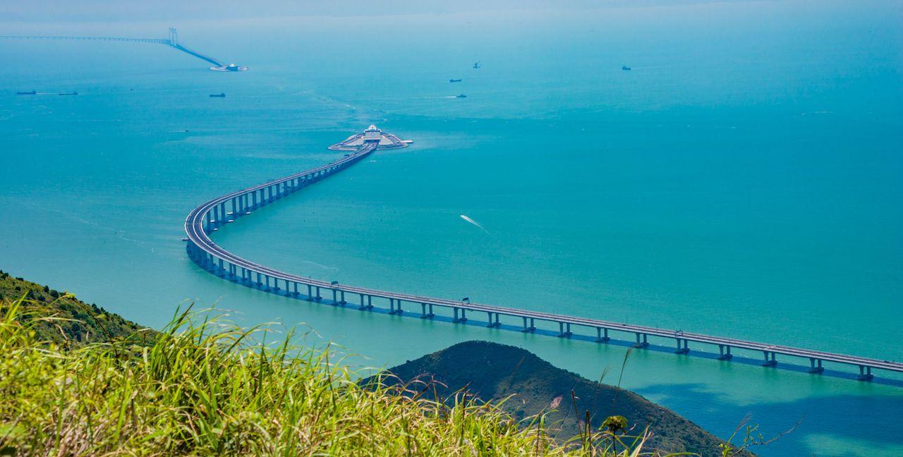World s longest sea bridge open