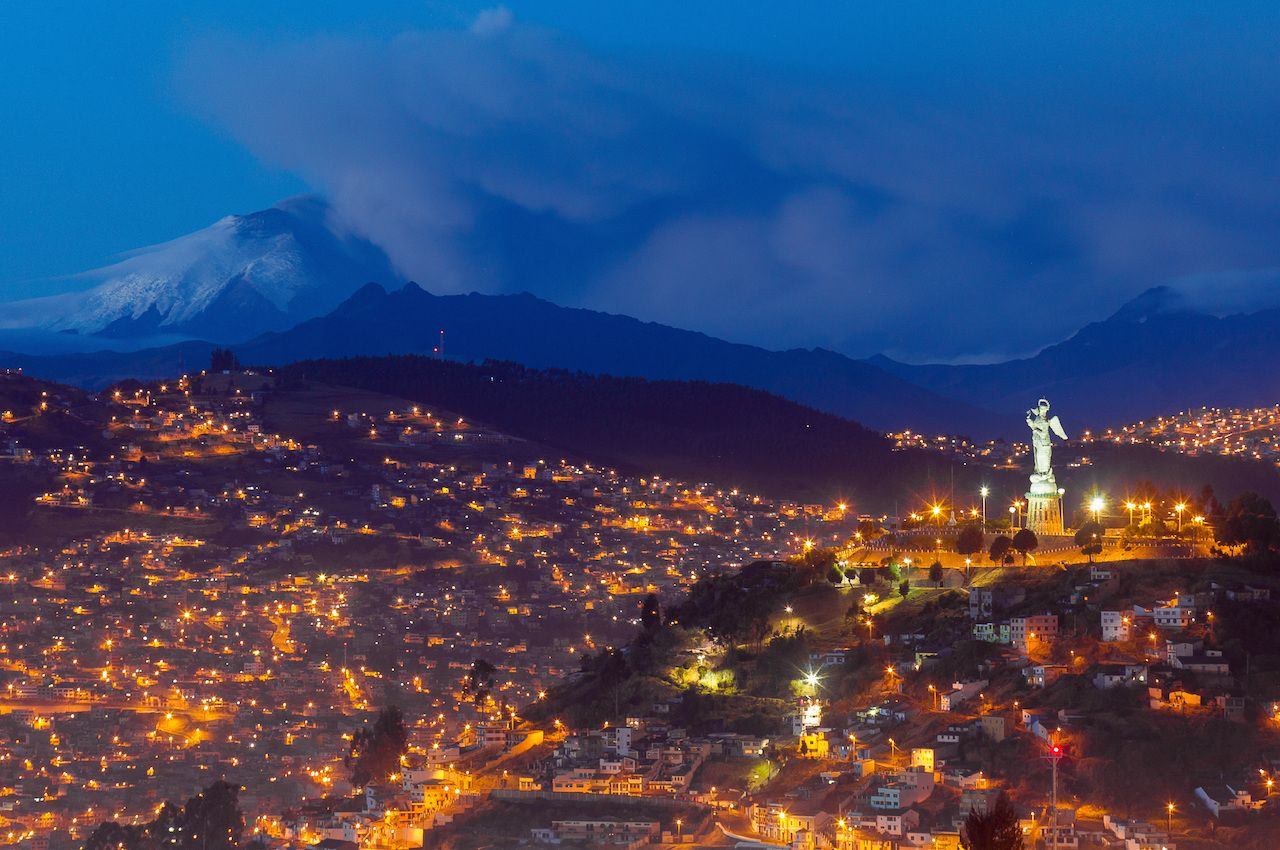 The Virgin of Panecillo monument in Quito