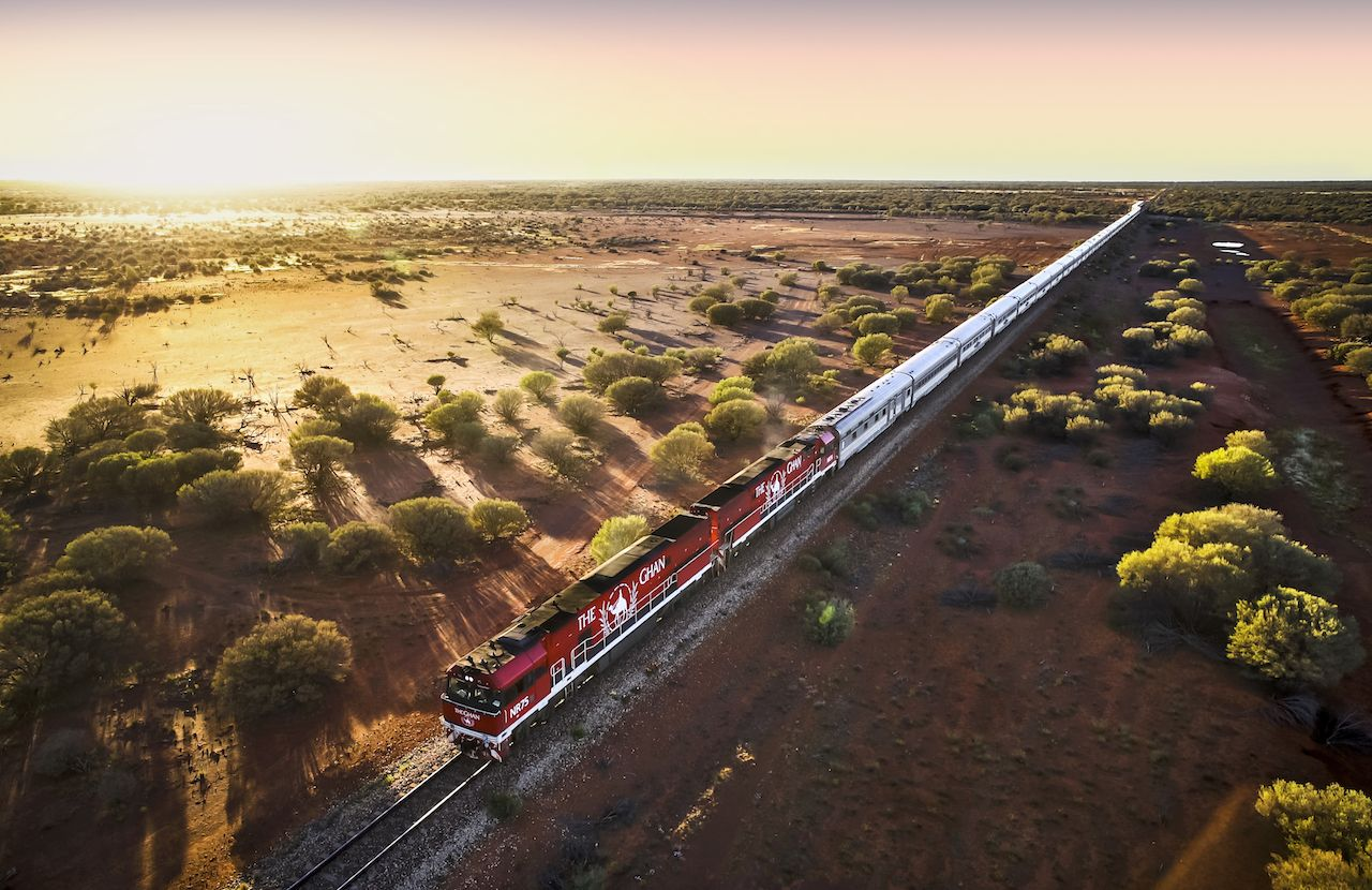 The Ghan in the Australian Outback