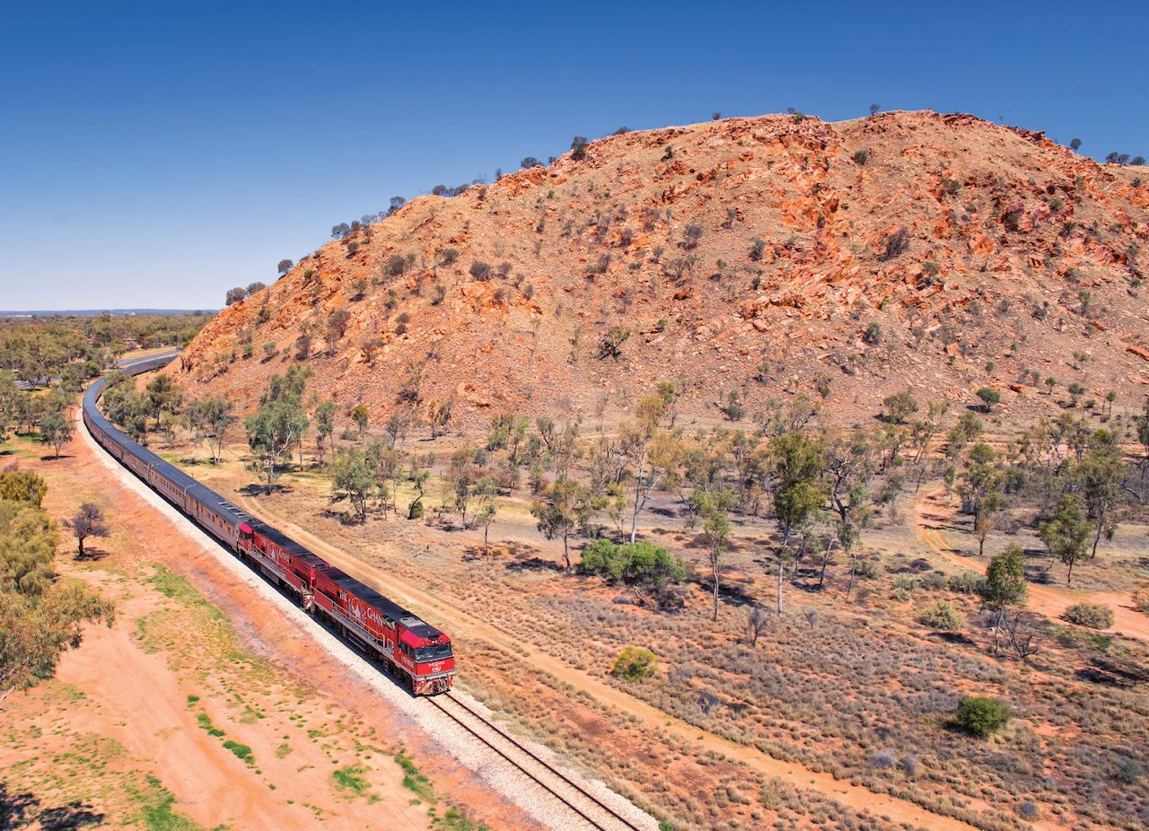 The Ghan in Darwin, Australia