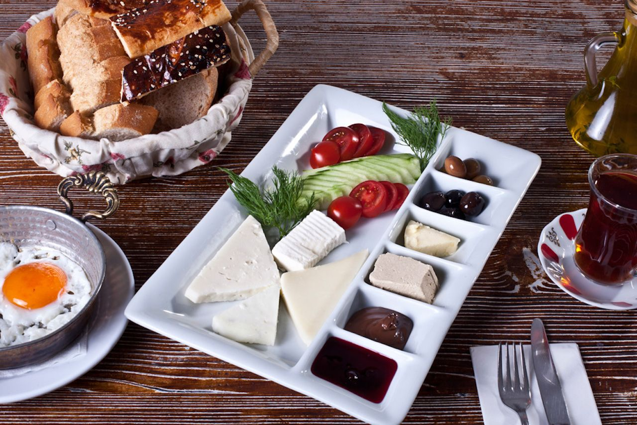 Turkish breakfast spread