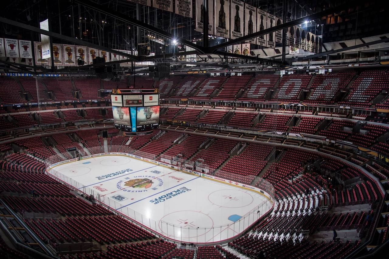 United Center sports stadium in Chicago