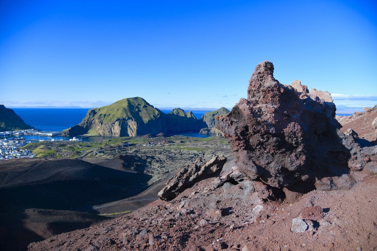 View from Edlfell volcano in Iceland