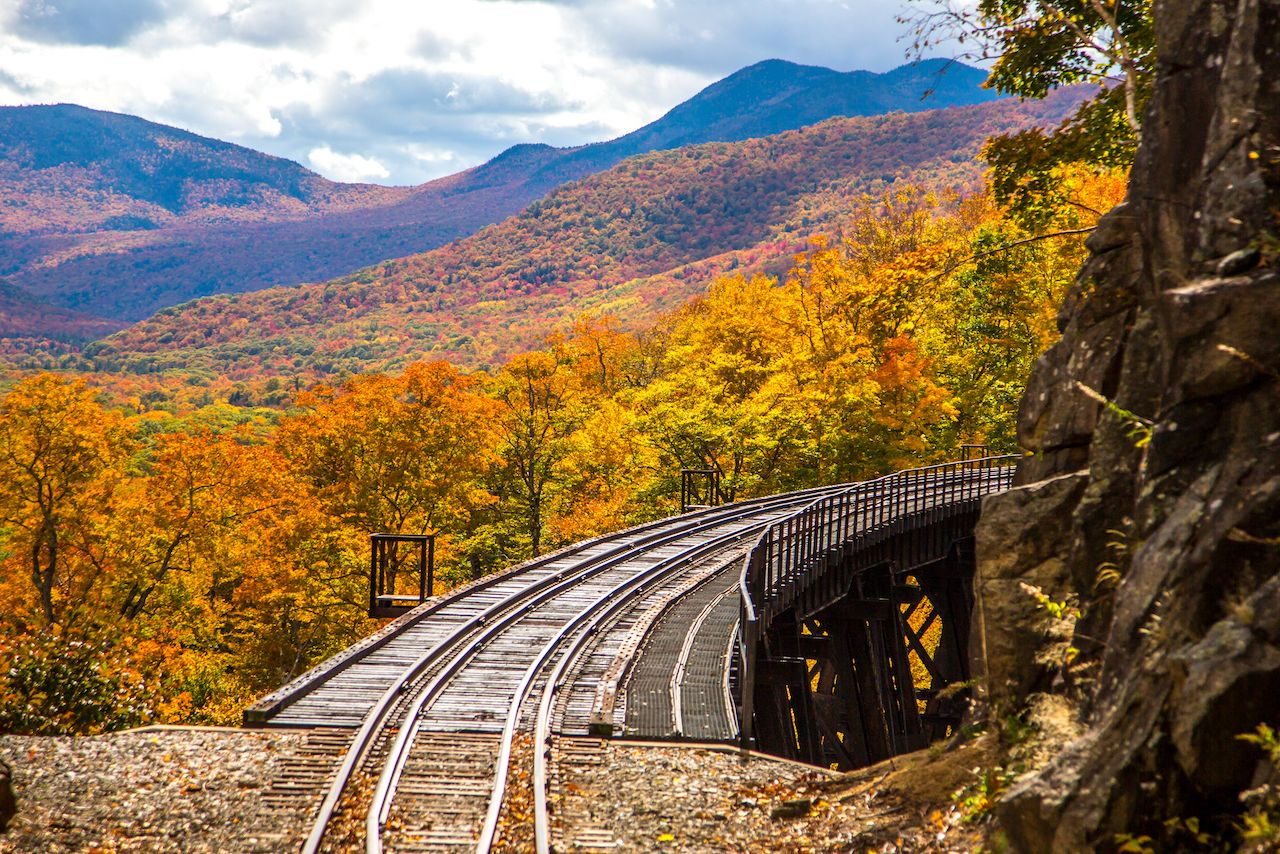 View from the Conway Scenic Railway in New Hampshire