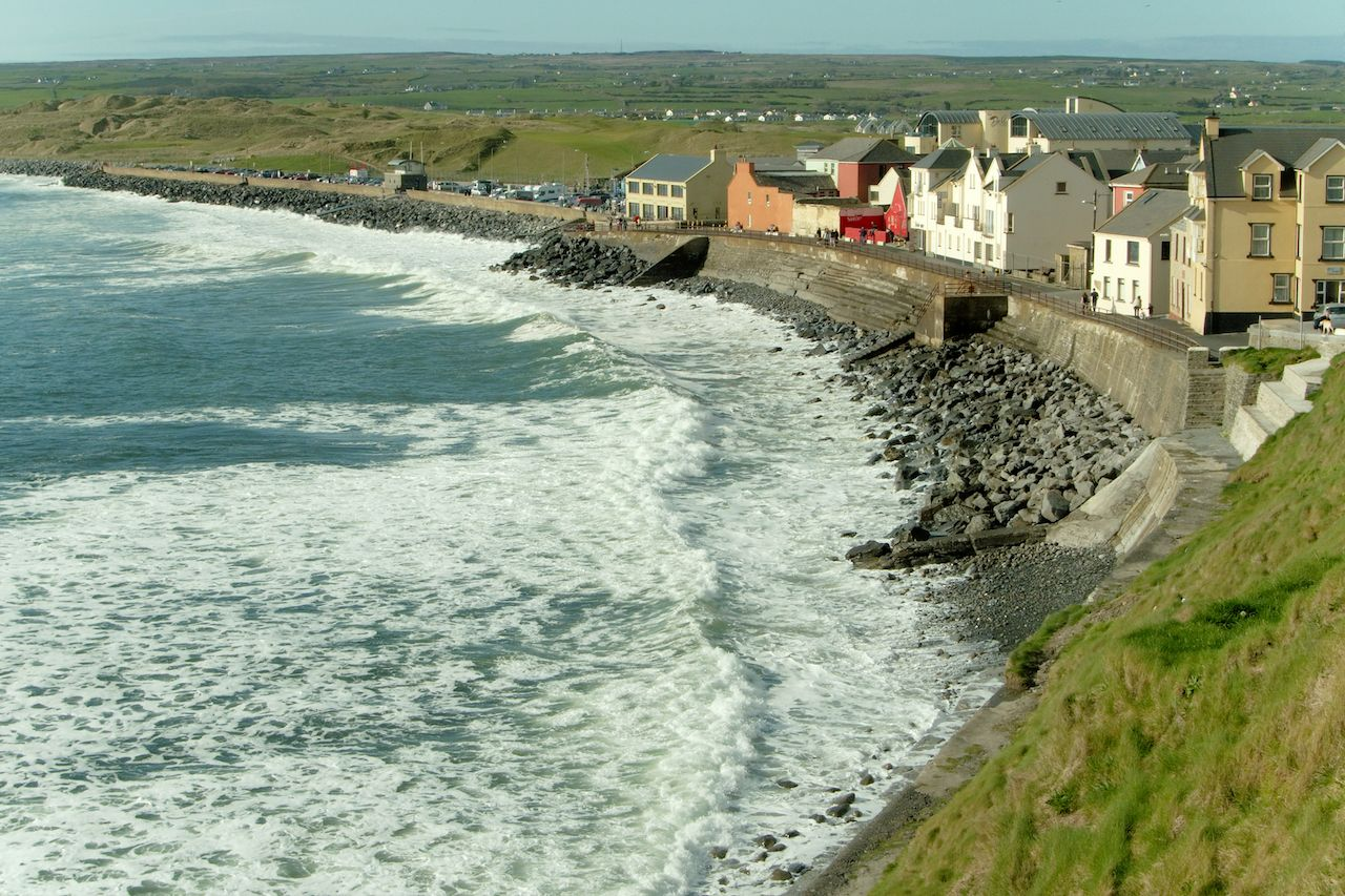 View of the coastal town of Lahinch, Ireland