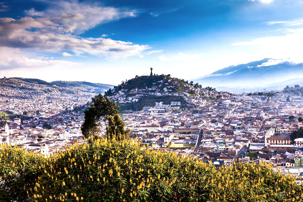 Viewpoint of the city of Quito from the district of San Juan