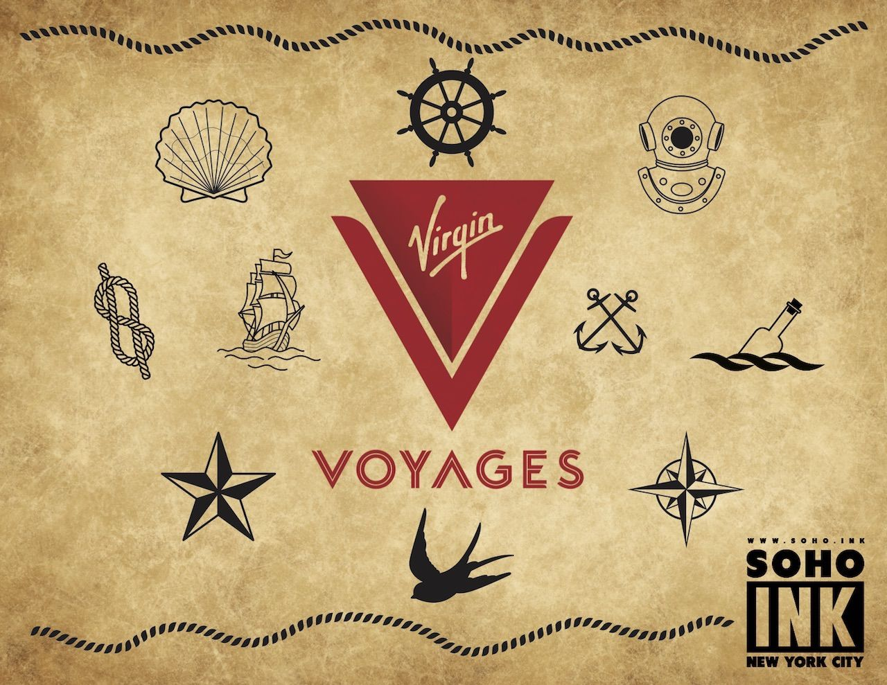 Virgin Voyages tattoo Soho Ink NYC