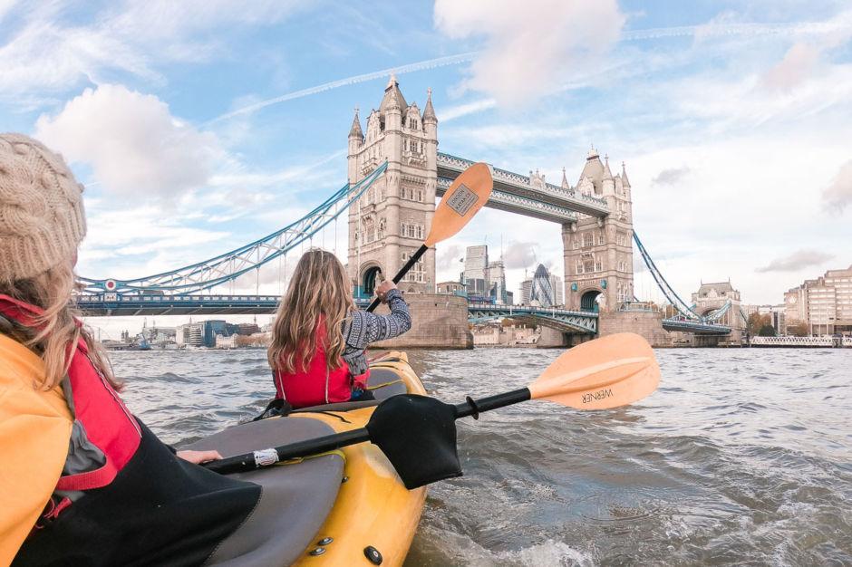 Visit Britain kayaking Thames London