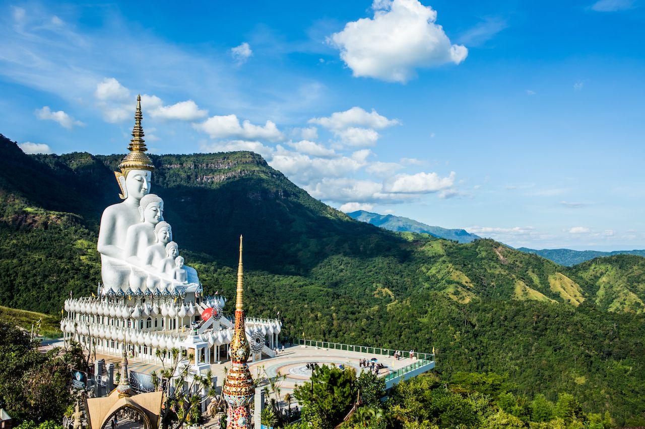 Wat Phasornkaew Phetchabun in Thailand
