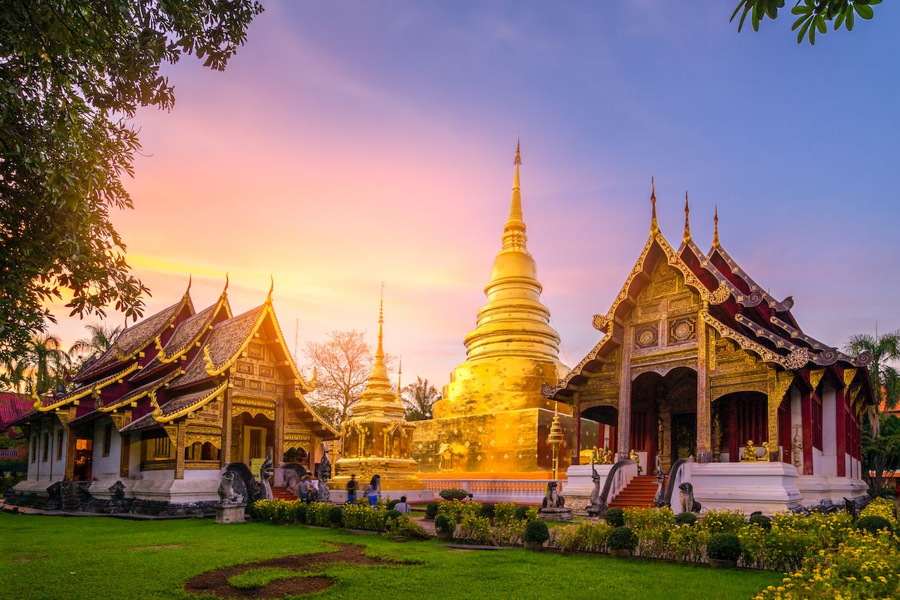 Wat Phra Singh in Chiang Mai in Thailand