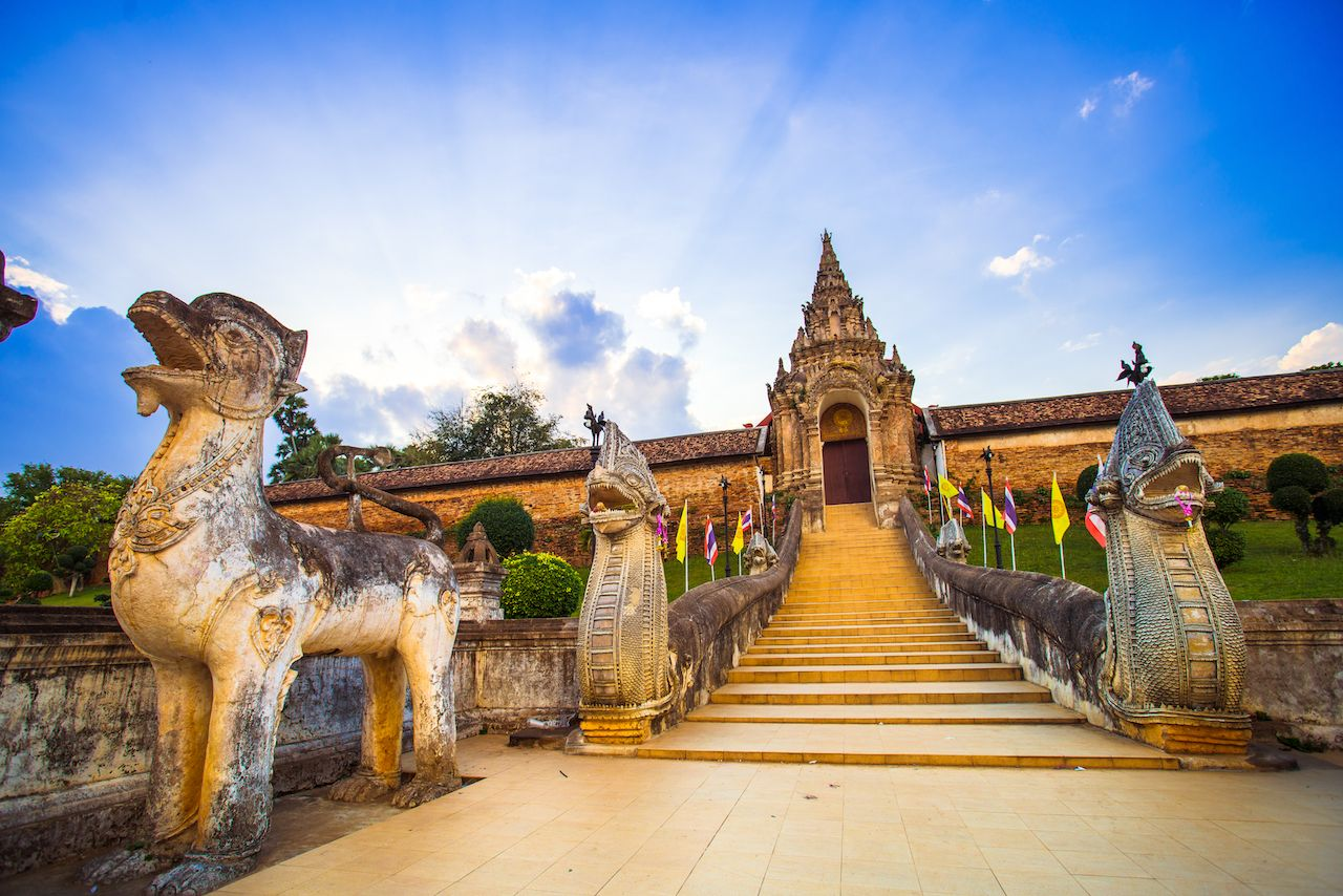 Wat Phra That Lampang Luang in Thailand