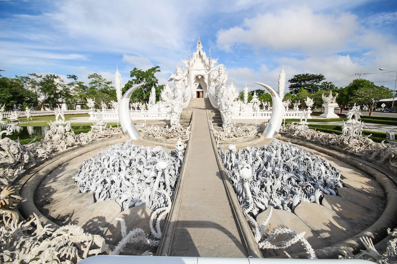 White temple in Chiangrai in Thailand