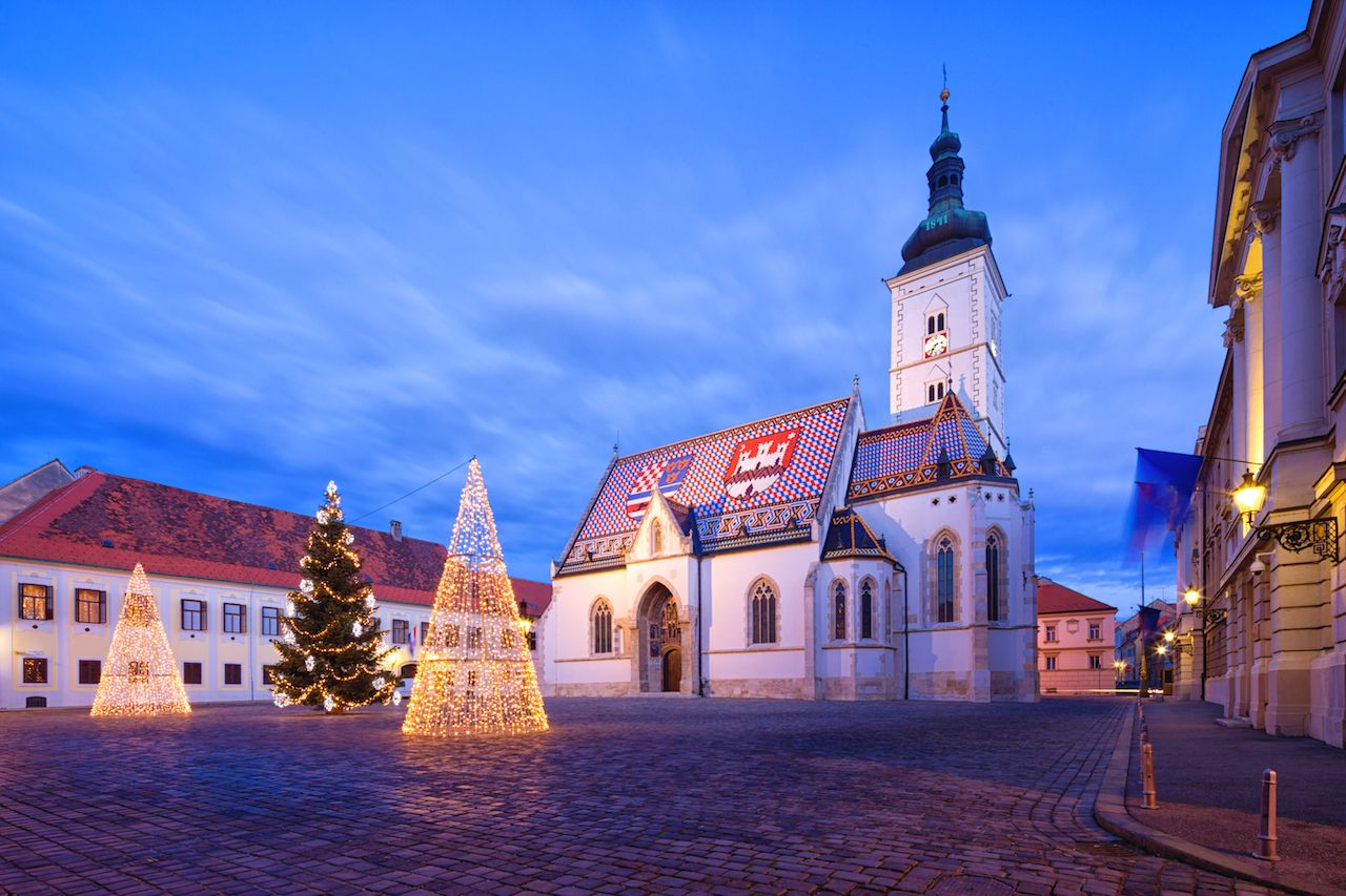 Zagreb at Christmas time