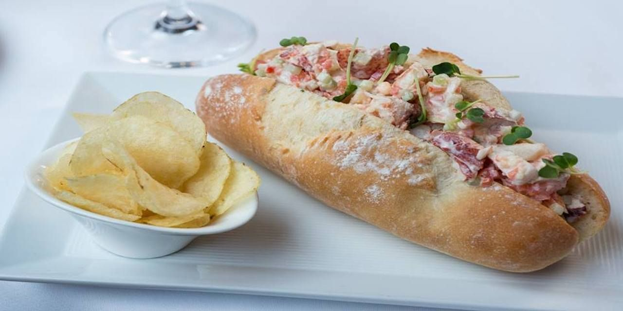 lobster roll from Maine's Grace White Barn