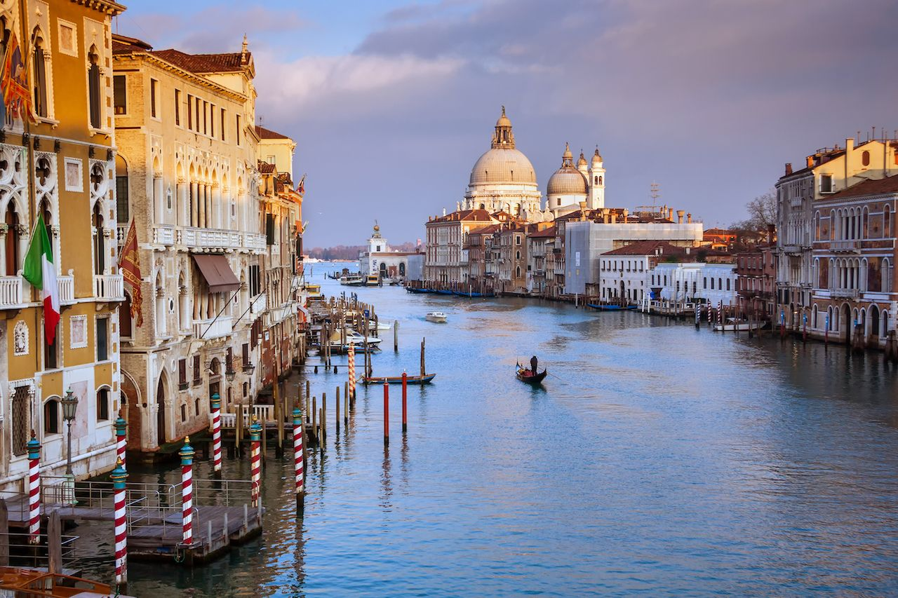 view of the Grand Canal in Venice Italy