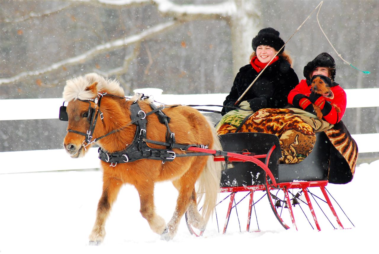 Christmas spirit in New England