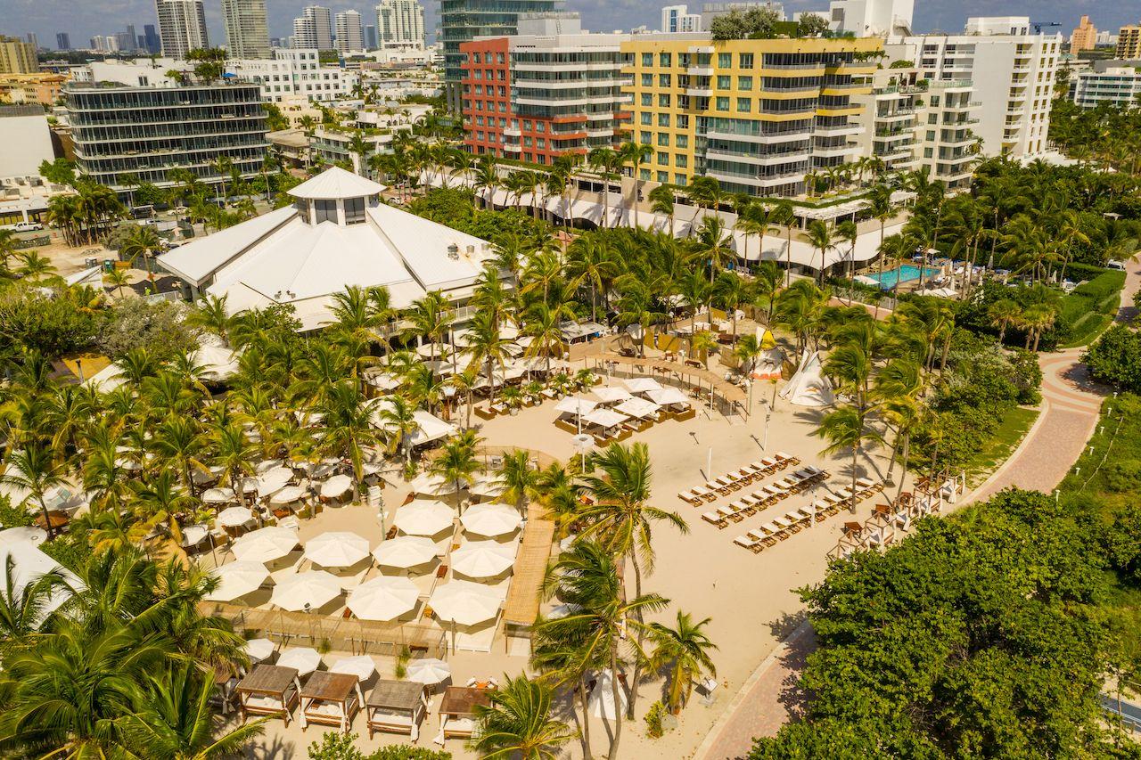 Aerial photo Nikki Beach Club Miami Beach