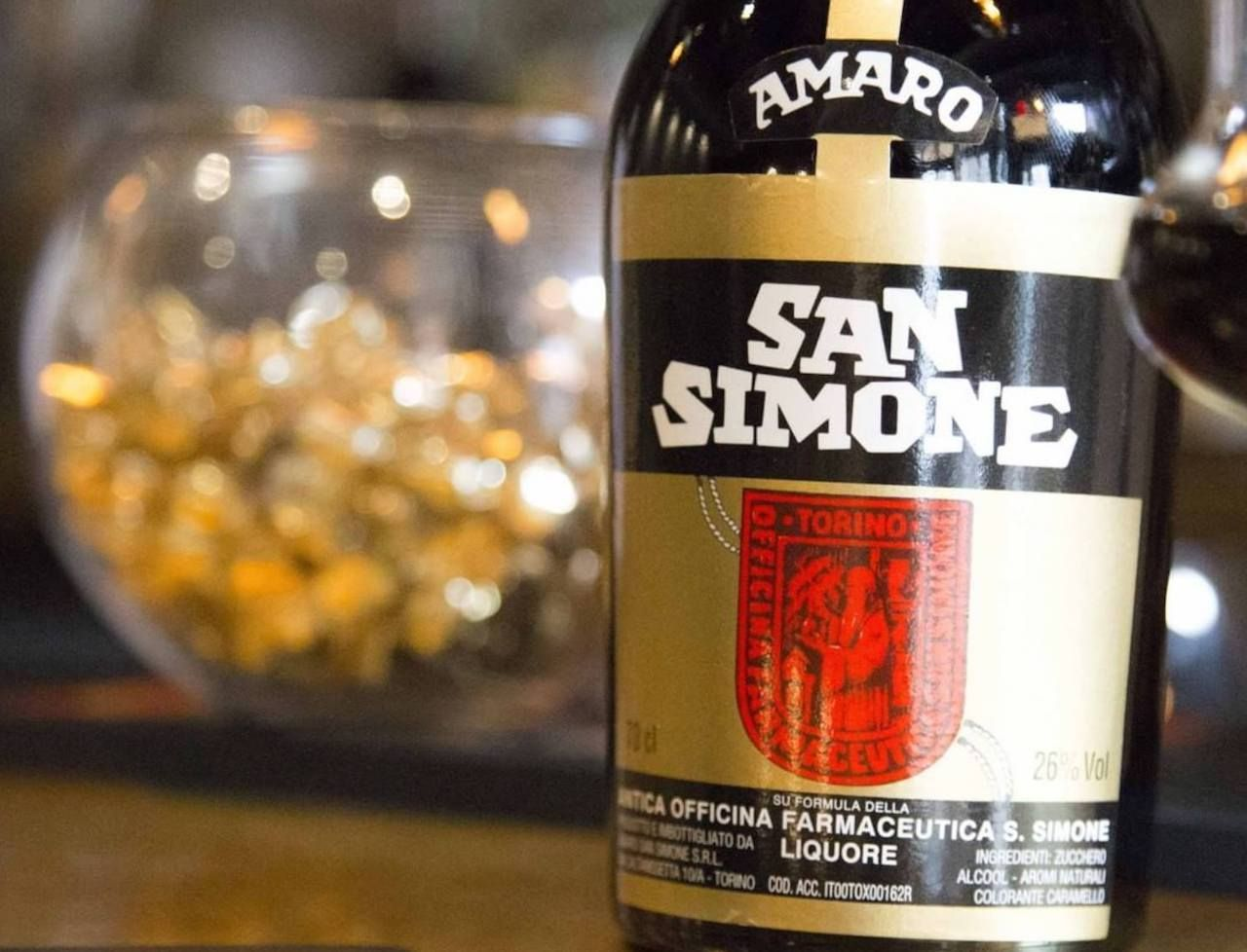 bottle of Amaro San Simone