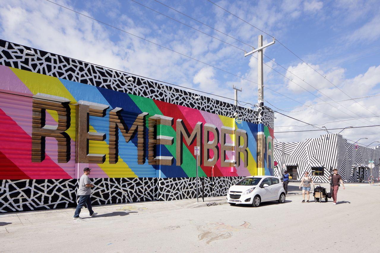Art murals in Wynwood, Florida