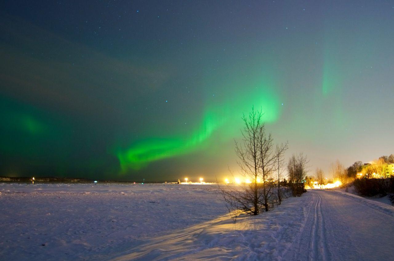 Aurora borealis in Anchorage, Alaska